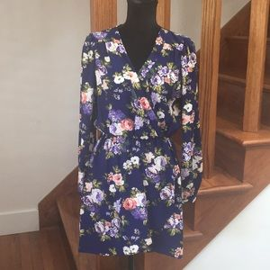 Lulu's Floral Wrap Dress